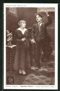 AK Schauspieler Charles Chaplin: