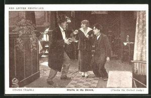 AK Schauspieler Charlie Chaplin in dem Film