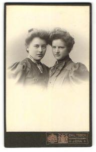 Fotografie Emil Tesch, Jena, Portrait zwei junge Damen