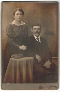 Fotografie Blesius, Hameln, Portrait bürgerliches junges Paar