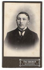 Fotografie Frz. Weber, Wunsiedel, Portrait junger Mann in Anzug