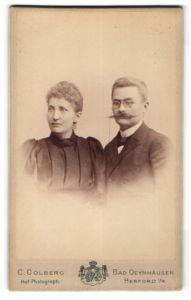 Fotografie C. Colberg, Bad Oeynhausen & Herword i/W, Portrait bürgerliches Paar