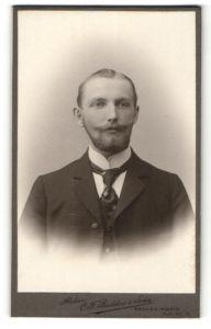 Fotografie C. F. Beddies & Sohn, Braunschweig, Portrait junger Herr mit Bart