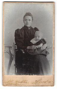 Fotografie Alb. Richter, Haspe i/W, Portrait junge Frau und Säugling