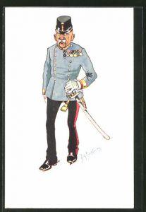 Künstler-AK Fritz Schönpflug: Soldat in Uniform