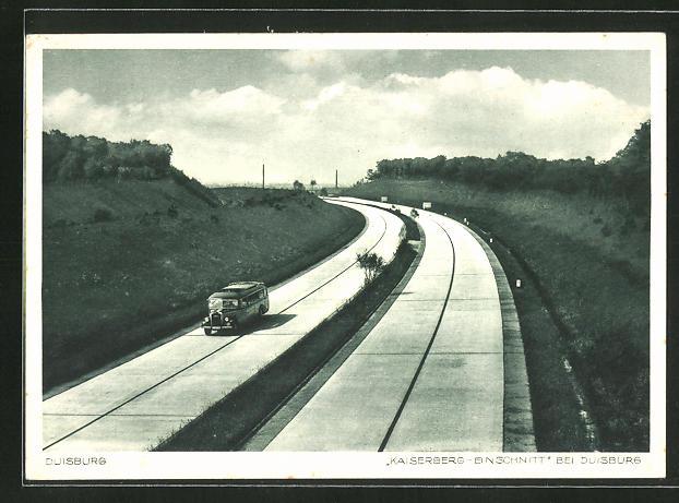 AK Duisburg, Bus auf der Autobahn am