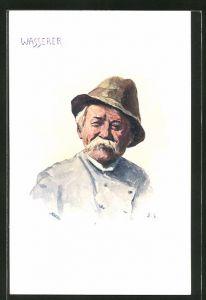 Künstler-AK J. L.: Wasserer, Wiener Typ