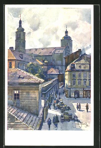 Künstler-AK Jaroslav Setelik: Prag, St. Jakob