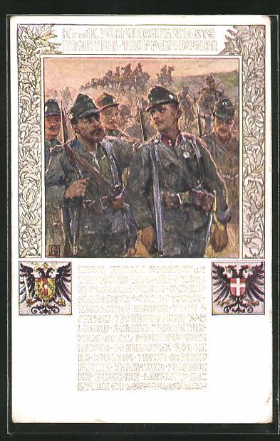Künstler-AK Karl Friedrich Gsur: 25. Infanterie-Truppendivision