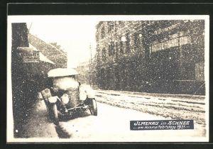 Foto-AK Ilmenau, Verschneite Stadt am Himmelfahrtstage 1921