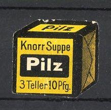 Reklamemarke Knorr Pilzsuppe, Suppenwürfel