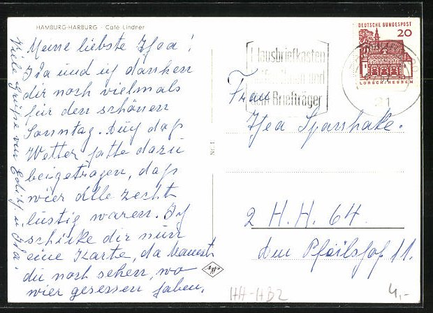 Ak Hamburg Harburg Partie Am Café Lindner Nr 8321410 Oldthing