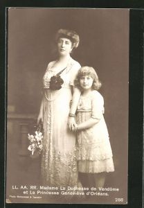 AK Adel von Frankreich, Madame La Duchesse de Vendome et la Princesse Geneviève d'Orléans