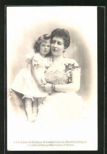 AK Madame la Duchesse de Vendôme Princesse Henriette de Belgique et la Princesse Marie-Louise d'Orléans