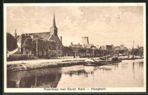 AK Hoogkerk, Hoendiep met Geref. Kerk