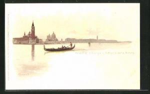 Lithographie Venedig, S. Giorgio u. S. Maria della Salute