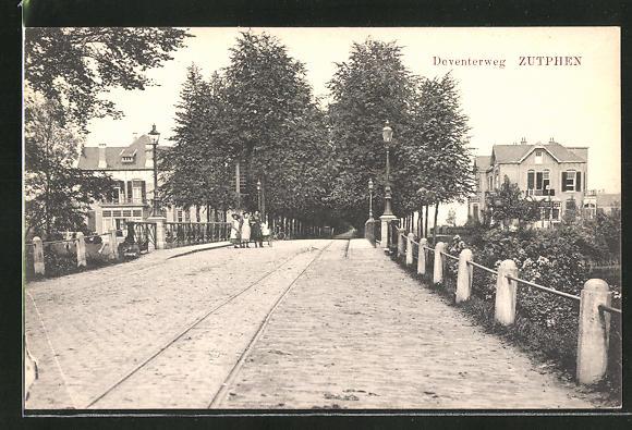 AK Zutphen, Deventerweg, Strassenpartie 0