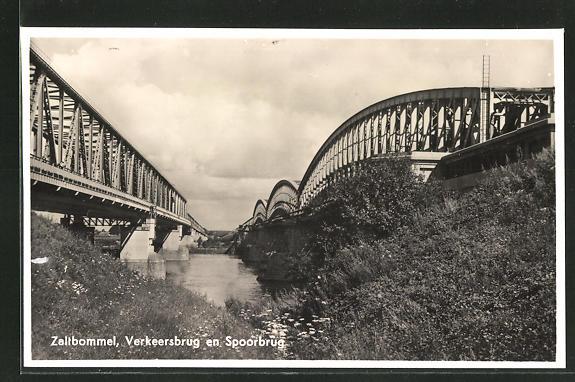AK Zaltbommel, Verkeersbrug en Spoorbrug 0
