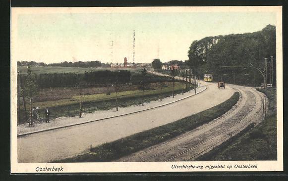 AK Oosterbeek, Utrechtscheweg m/gezicht op Oosterbeek 0