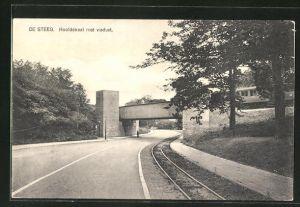 AK De Steeg, Hoofdstraat met viaduct