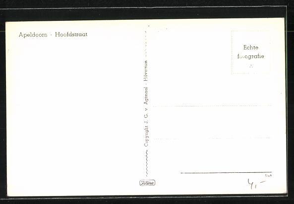 AK Apeldoorn, Hoofdstraat mit Edelweiss Zeeppoeder 1