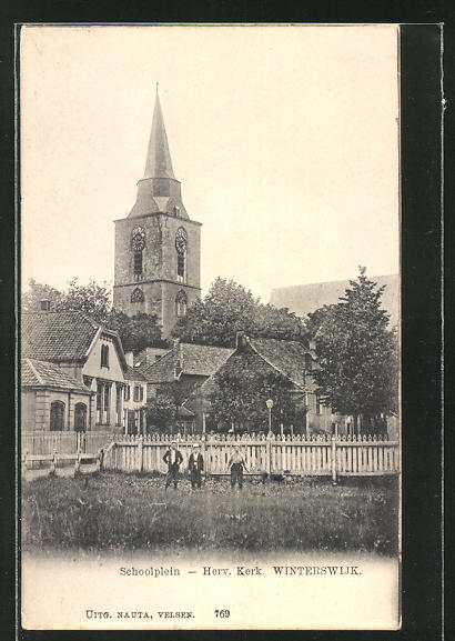 AK Winterswijk, Schoolplein, Herv. Kerk 0