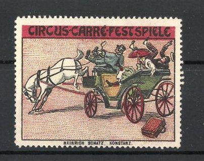 Reklamemarke Circus Carré Festspiele, Pferdekutsche