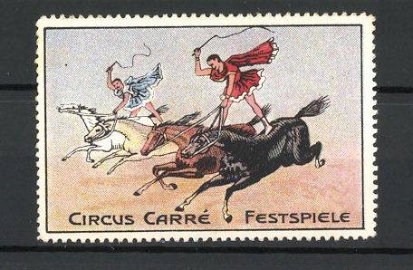 Reklamemarke Circus Carré Festspiele, reitende Akrobaten