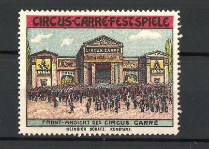 Reklamemarke Circus Carré Festspiele, Frontansicht des Palastes