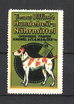 Reklamemarke Tierarzt Diffine's Hundeheil- und Nährmittel 0