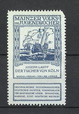 Reklamemarke Mainzer Volks- und Jugendbücher, Joseph Lauff's