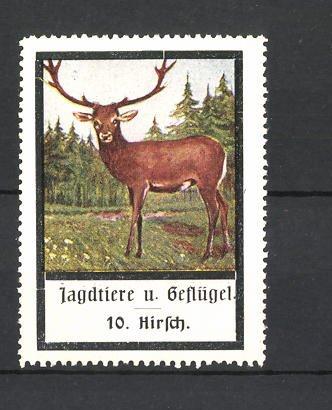 Reklamemarke Jagdtiere und Geflügel, Hirsch
