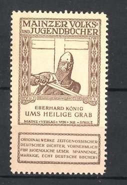 Reklamemarke Mainzer Volks- und Jugendbücher, Eberhard König
