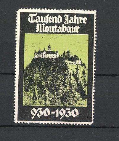 Reklamemarke Montabaur, 1000 Jahre 930-1930, Schlossansicht 0