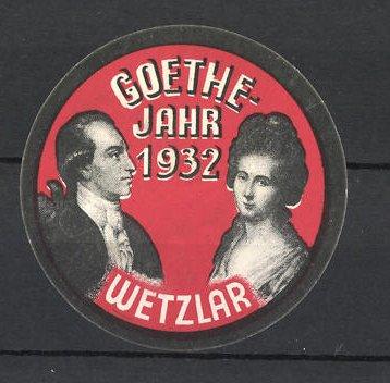 Reklamemarke Wetzlar, Goethe-Jahr 1932, Mann & Frau im Portrait 0