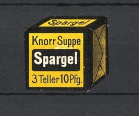 Reklamemarke Knorr Spargelsuppe, Suppenwürfel 0