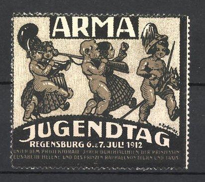 Künstler-Reklamemarke Zacharias, Regensburg, Jugendtag