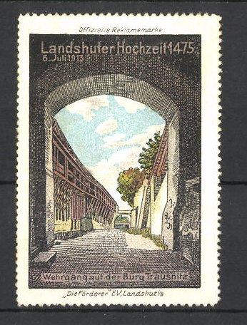 Reklamemarke Landshuter Hochzeit 1475, Wehrgang auf der Burg Trausnitz 0