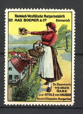 Reklamemarke Dr. Max Boehmer & Co, Margarine