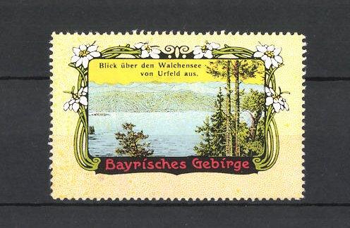 Reklamemarke Bayrisches Gebirge, Walchensee