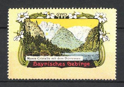 Reklamemarke Bayrisches Gebirge, Monte Cristallo mit Dürrensee 0