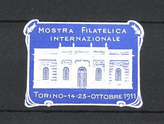 Präge-Reklamemarke Torino, Mostra Filatelica Internazionale 1911, Messehalle 0