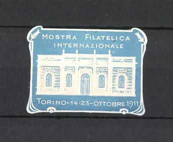 Präge-Reklamemarke Torino, Mostra Filatelica Internazionale 1911, Messehalle