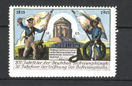 Reklamemarke Befreiungskriege, 100 Jahrfeier 1813-1913, Befreiungshalle 0