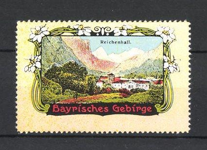 Reklamemarke Bayrisches Gebirge, Ortsansicht von Bad Reichenhall