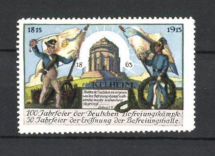 Reklamemarke Befreiungskriege, 100 Jahrfeier 1813-1913, Befreiungshalle Kelheim 0