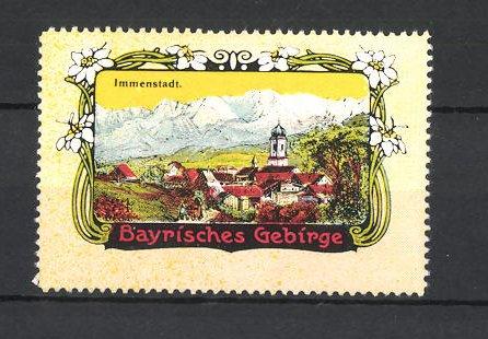 Reklamemarke Bayrisches Gebirge, Blick auf Immenstadt