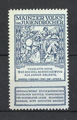 Reklamemarke Mainzer Volks- und Jugendbücher, Charlotte Niese