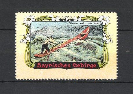 Reklamemarke Bayrisches Gebirge, Sturm auf dem See