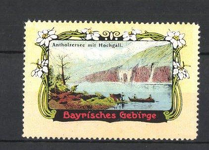 Reklamemarke Bayrisches Gebirge, Antholzersee mit Hochgall